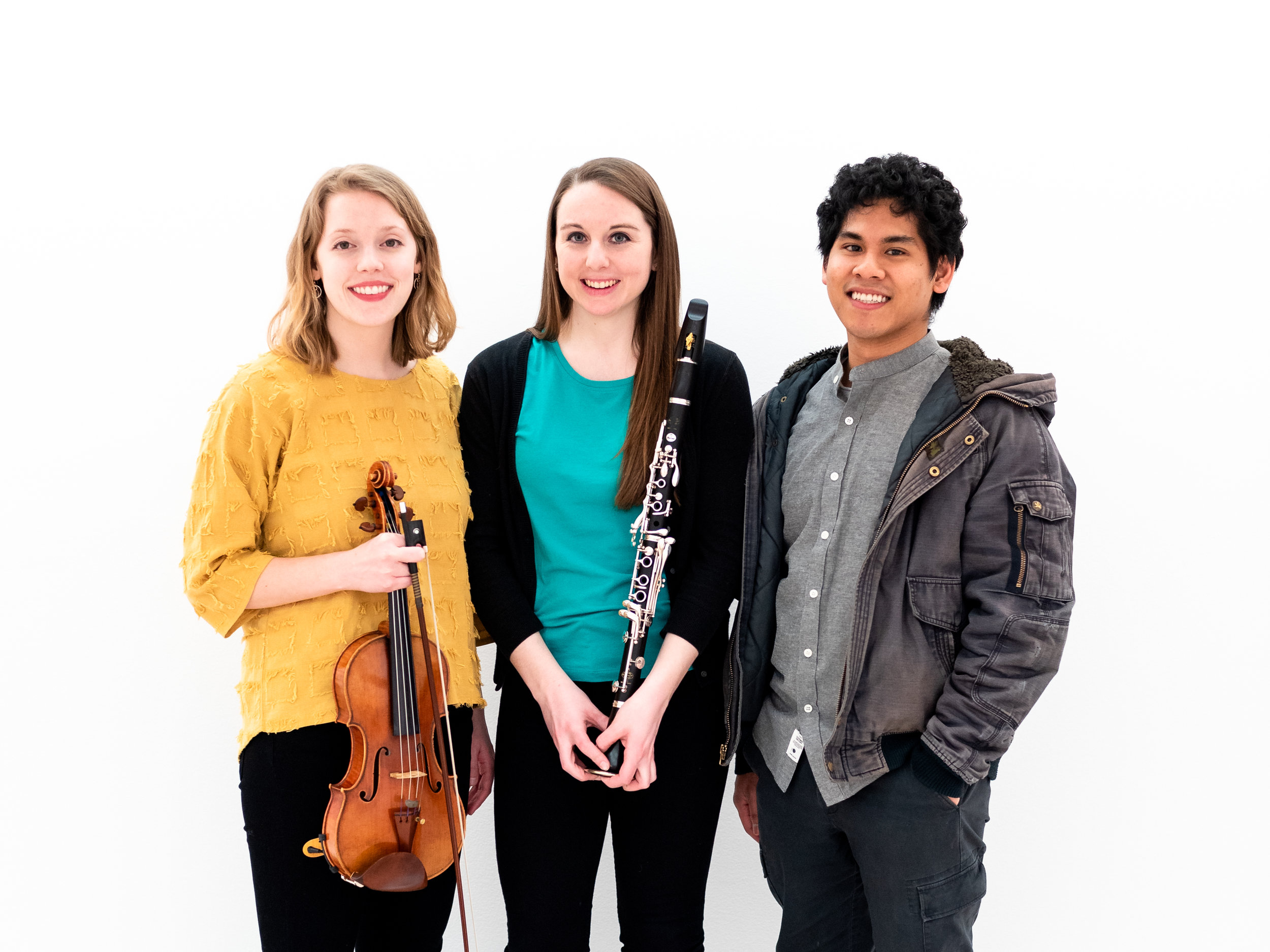About - The Oasi Trio is dedicated to the performance of contemporary music, with a focus on presenting new and original compositions for all combinations of instruments in the ensemble—clarinet, violin, and piano.