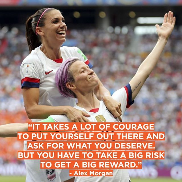 Talk about #motivationmonday... we couldn't be more proud of the #uswnt win. Now, let's get that next victory: #equalpay!  Photo: Associated Press. . . . #equalplayequalpay #worldcup2019 #fifawomensworldcup #alexmorgan #meganrapinoe #onenationoneteam #teamusa #letsgo #equality #feminist #feminism #WeAreSHE