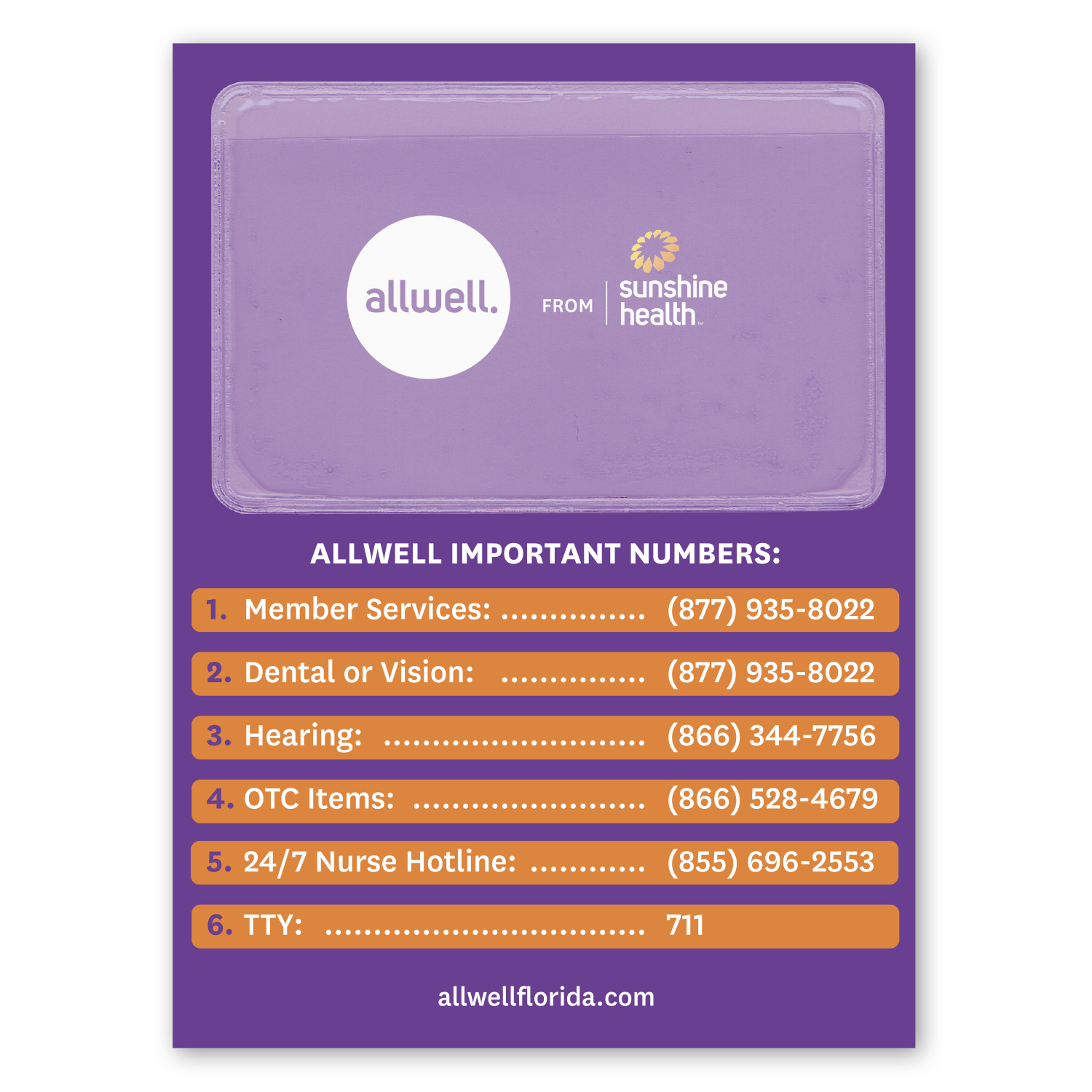 """• MP01 Pocket Magnet, 4.25"""" x 5.75"""", .020 thickness  • 5,000 piece order used for quick reference of different healthcare numbers. The pocket holds business card information of providers."""