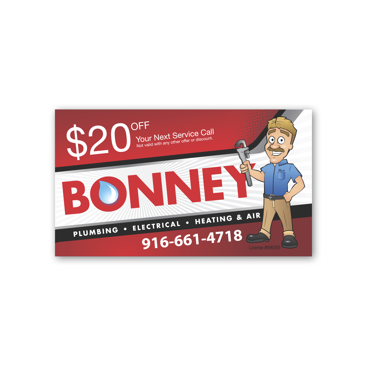 "• BC1 Business Card Magnet, 2"" x 3.5"", .020 thickness  • 500,000 piece repeat order for the third year. Magnets were inserted into a mailing."