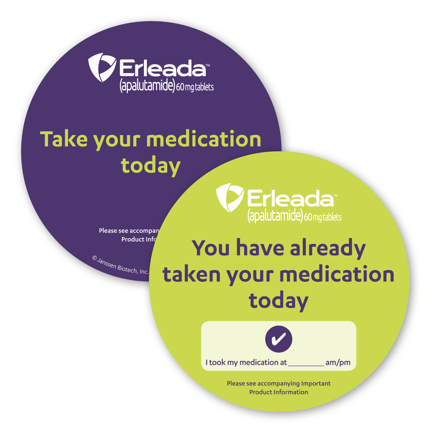 """• TWCST Custom Double-Sided Magnet, 4"""" Diameter, .045 thickness  • 5,000 piece order with a write-on area that was distributed to patients to remind them to take their medication."""