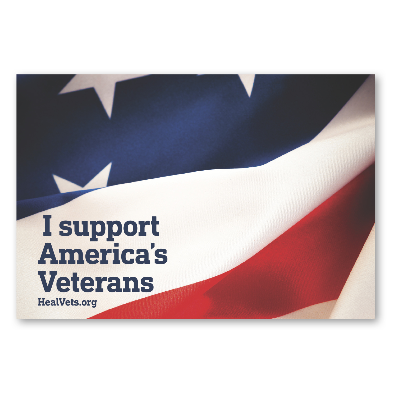 """• CF21S Custom Magnet, 3.75"""" x 5.5"""", .020 thickness  • 121,000 piece order was used as an insert for a non-profit mailing."""