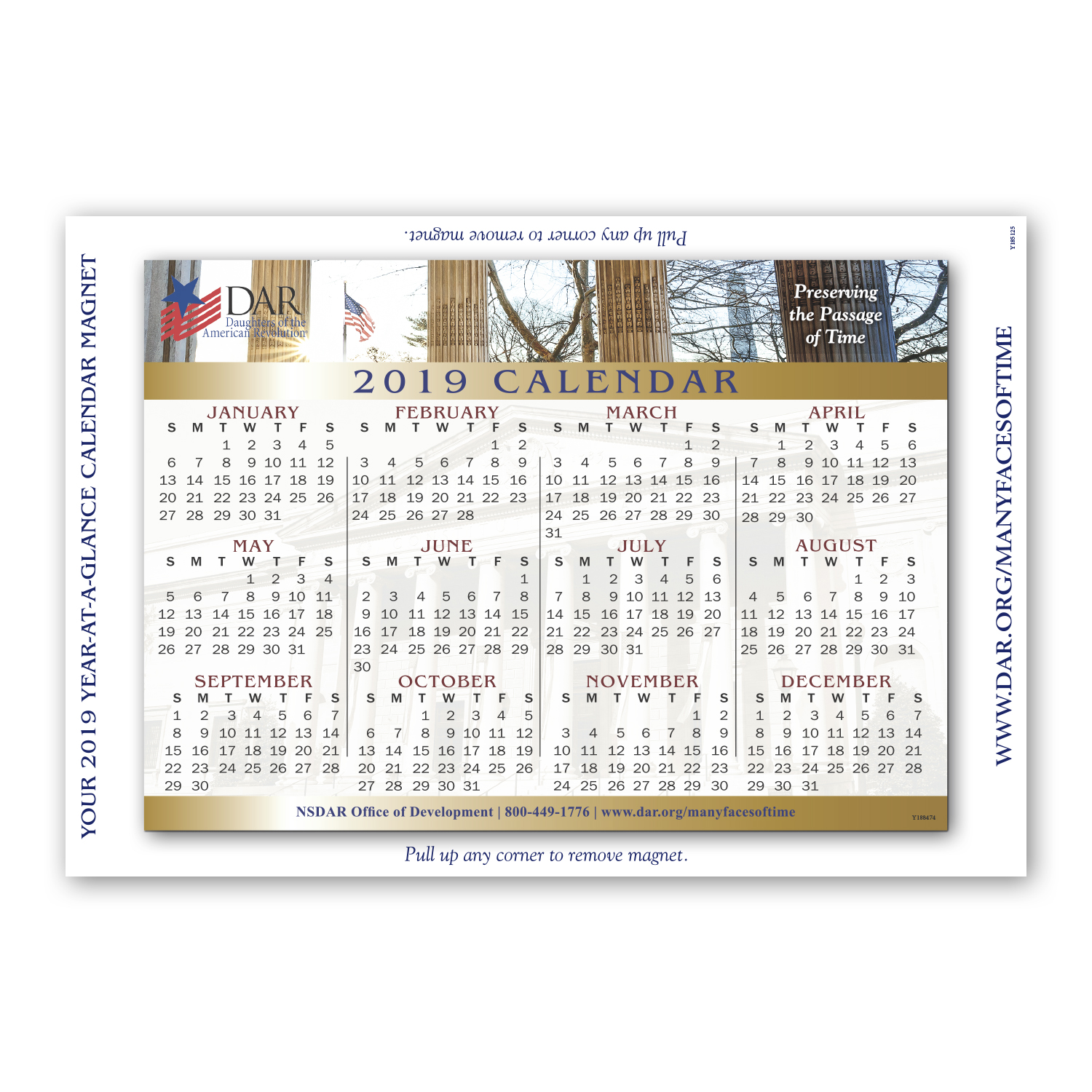 """• RMCST Romance Card, 5.5"""" x 8"""", 10 pt. with CF32S Custom Magnet, 4.75"""" x 6.6875"""", .020 thickness  • 75,000 calendar magnets were tipped onto card and mailed out to clients/donors."""