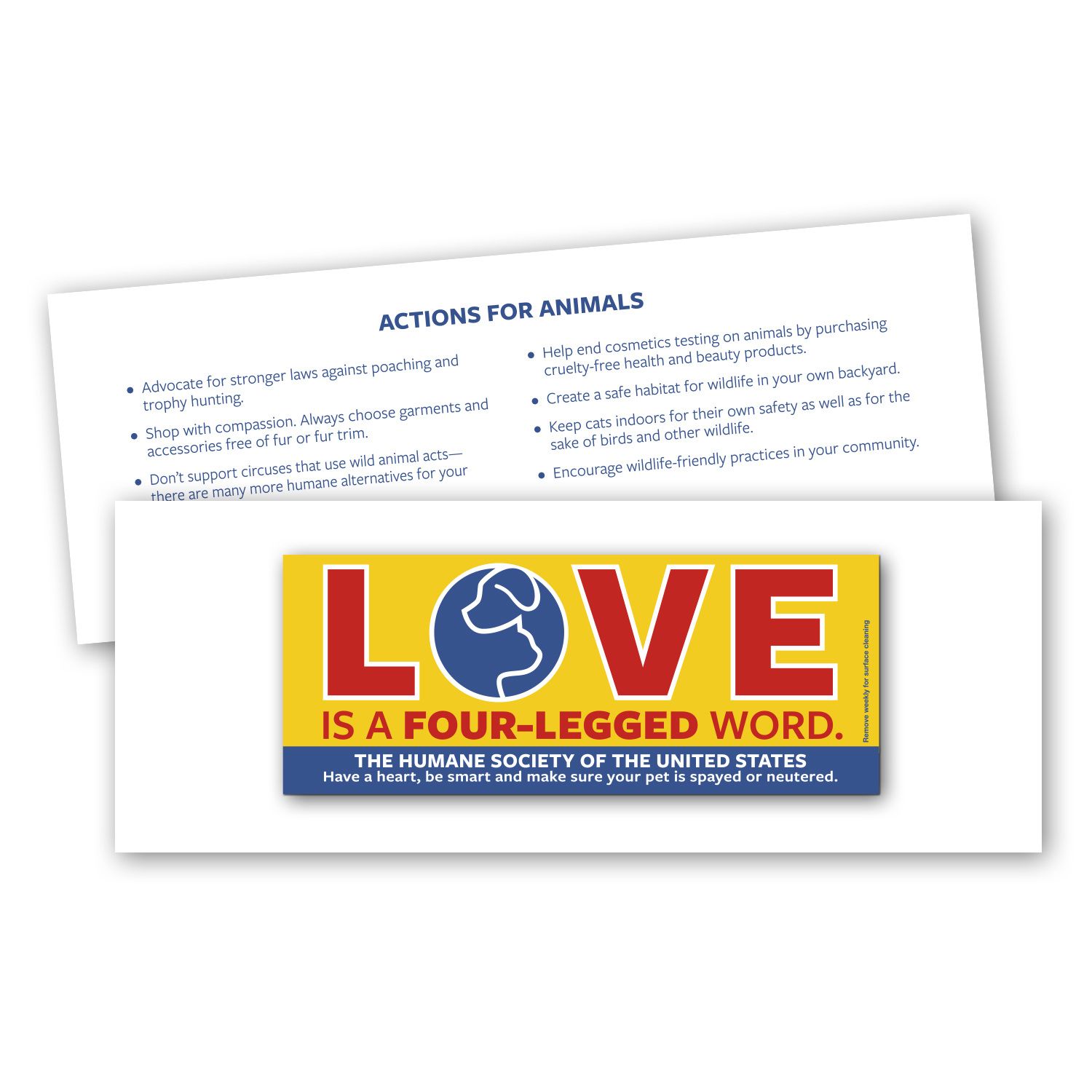 """• RMCST Romance Card, 4.125"""" x 10.875"""", 8 pt. with CSCST020 Custom Car Magnet, 2.8125"""" x 7"""", .030 thickness  • 250,000 car magnets were tipped onto card, inserted into envelopes, and mailed to donors."""