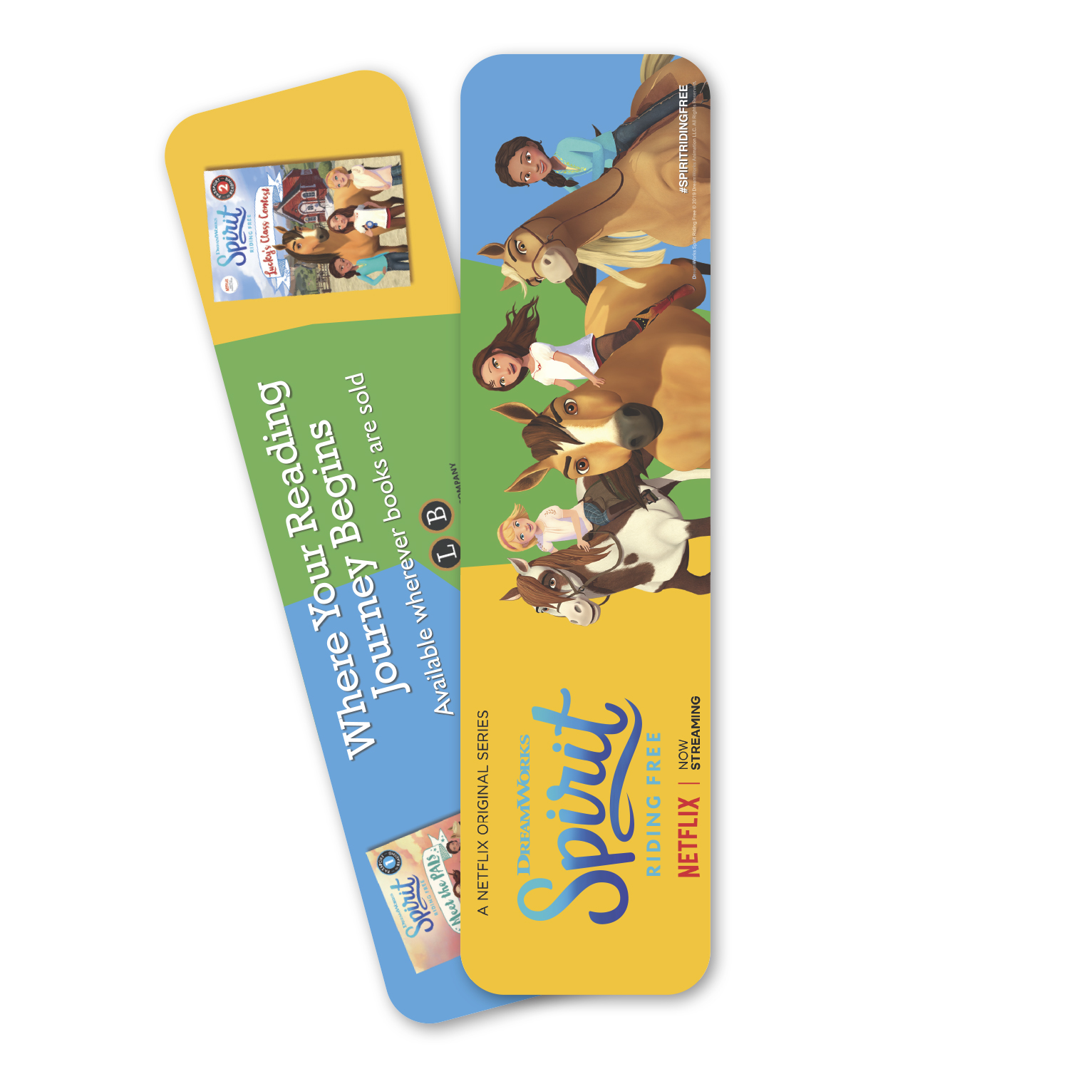 """• PSK03 Plastic Bookmark, 2.125"""" x 8"""", 12 mil. thickness  • 50,000 pieces that are being used as handouts at a convention to promote reading."""