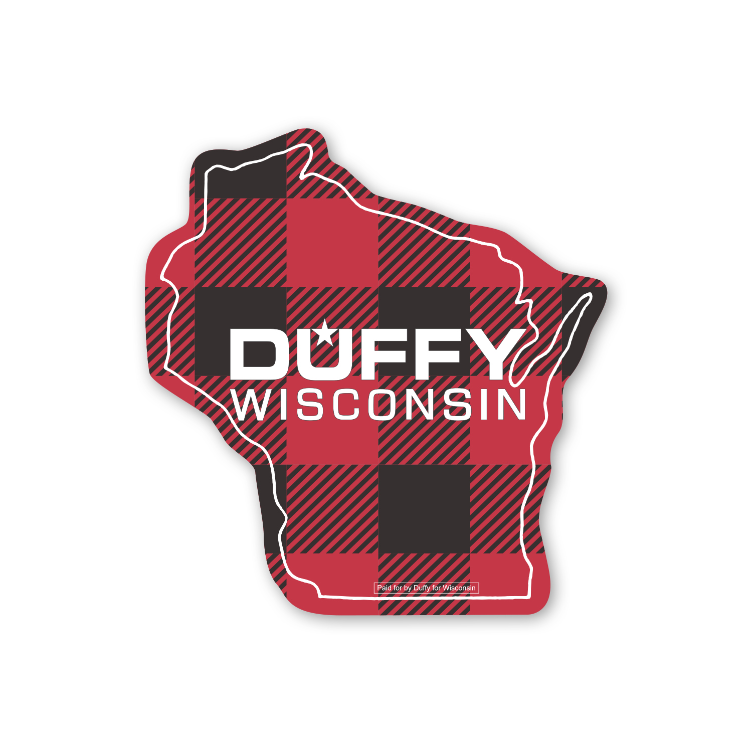 """• MSWI Stock Wisconsin State Magnet, 2.7813"""" X 2.9375"""", .020 thickness  • Campaign magnets used as handouts."""