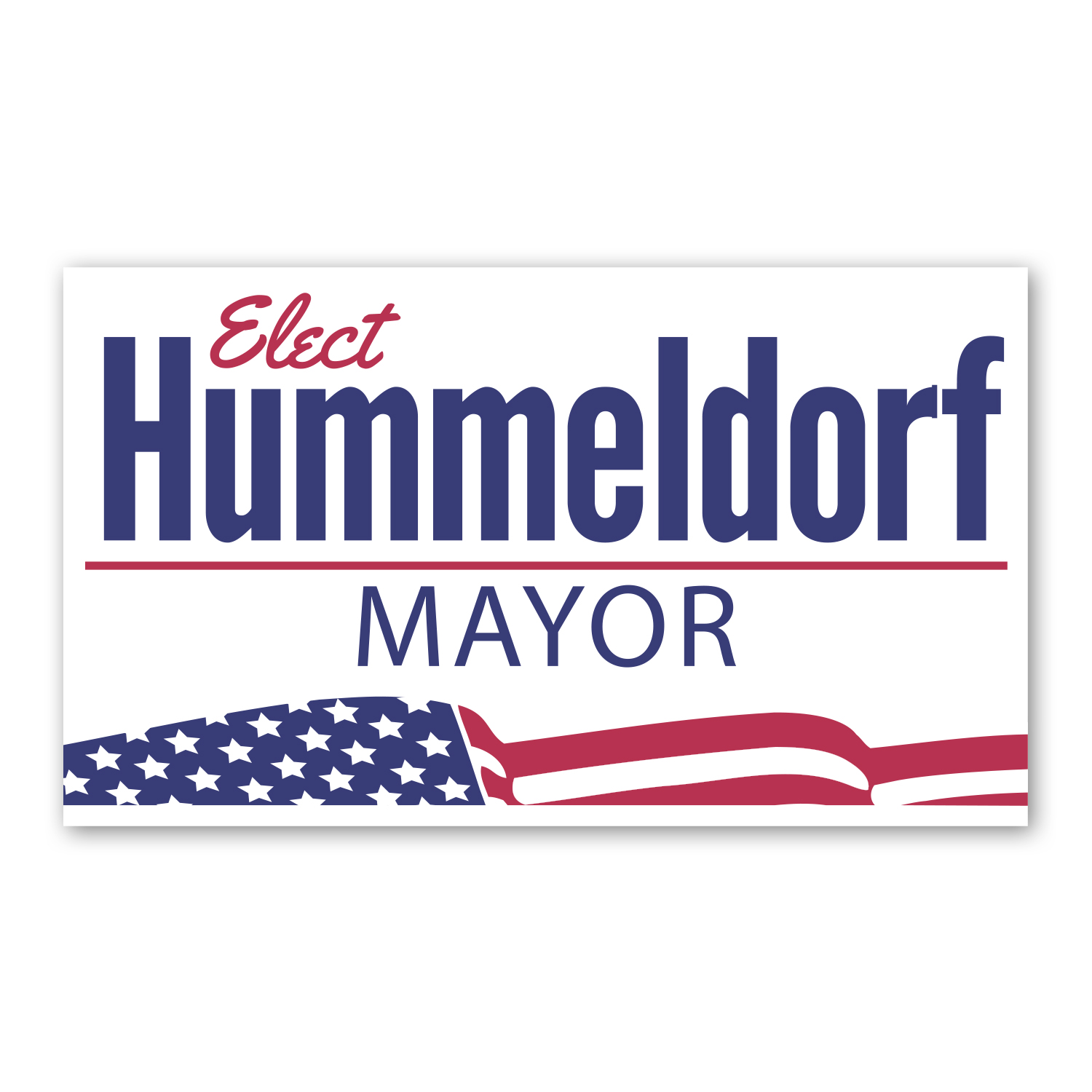 """• BCJ1 Jumbo Business Card Magnet, 4.75"""" X 2.75"""", .020 thickness  • Election magnets used as handouts on campaign trail."""