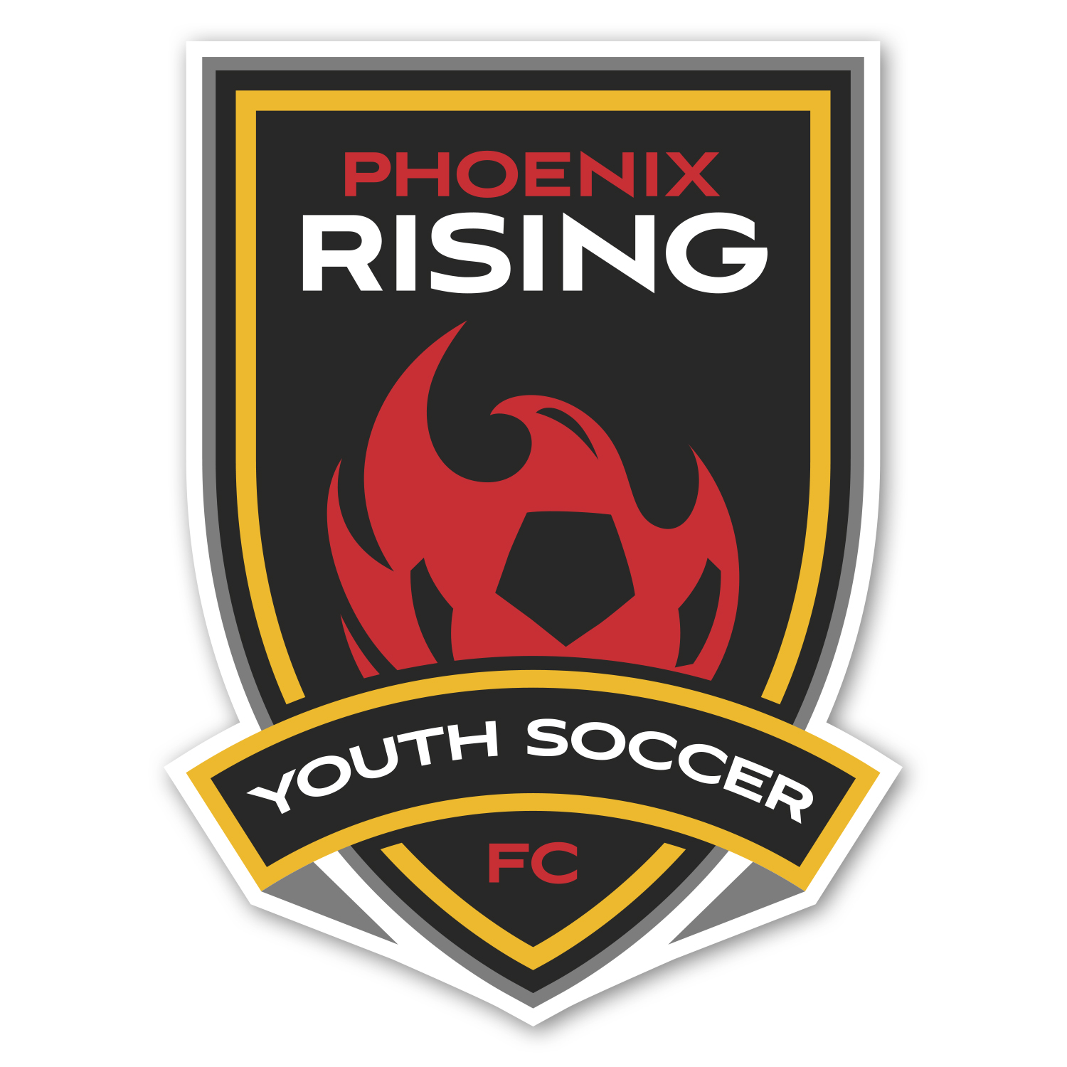 """• CSCST025 Custom Car Magnet, 4.125"""" x 5.5"""", .030 thickness  • Game day giveaway car magnet for Phoenix Rising Youth Soccer, 2,500 piece order."""