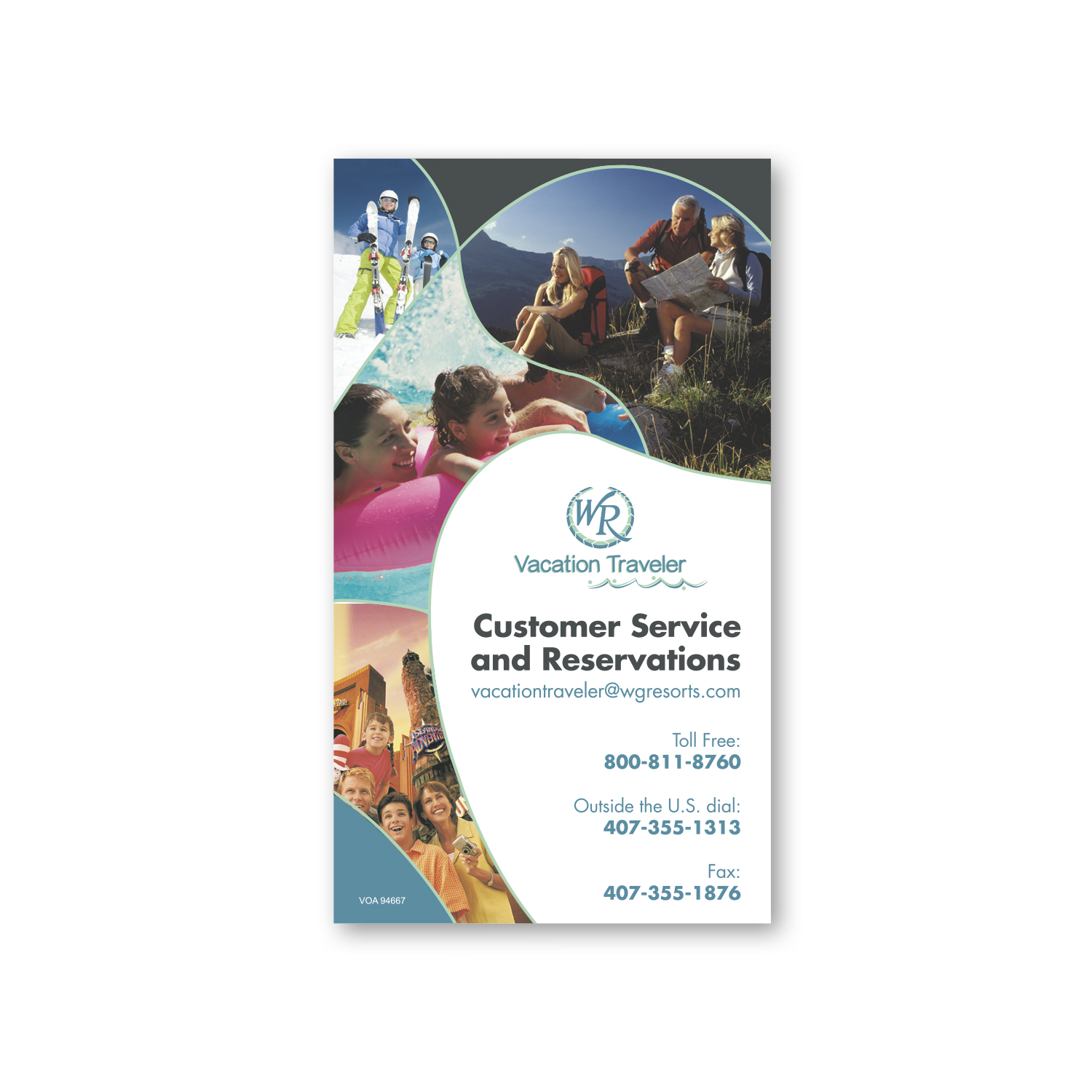 "• BC1,  Business Card Magnet, 2"" x 3.5"", .020 thickness  • 10,000 magnets being used to promote their vacation resorts."