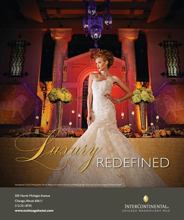 intercontinental Hotel bridal advertisement makeup artist