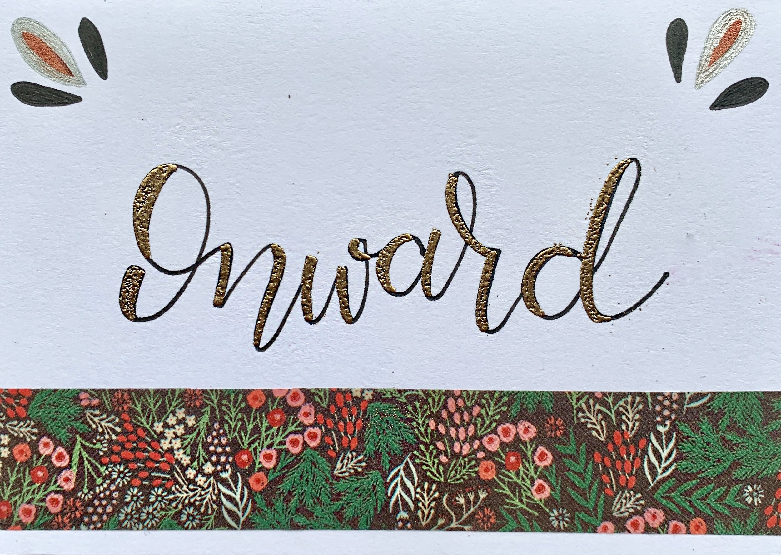 Card with embossed detail