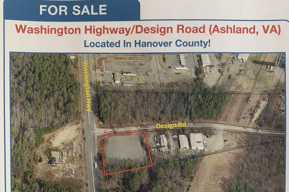 Washington Hwy/Design Rd - For Sale$249,5001.494 Acres zoned M-1286′ frontage on Washington Hwy/Rt 1~2.3 miles to I-95MLS Listing:Contact: Kevin Cox(804) 521-1468kevin@porterinc.com