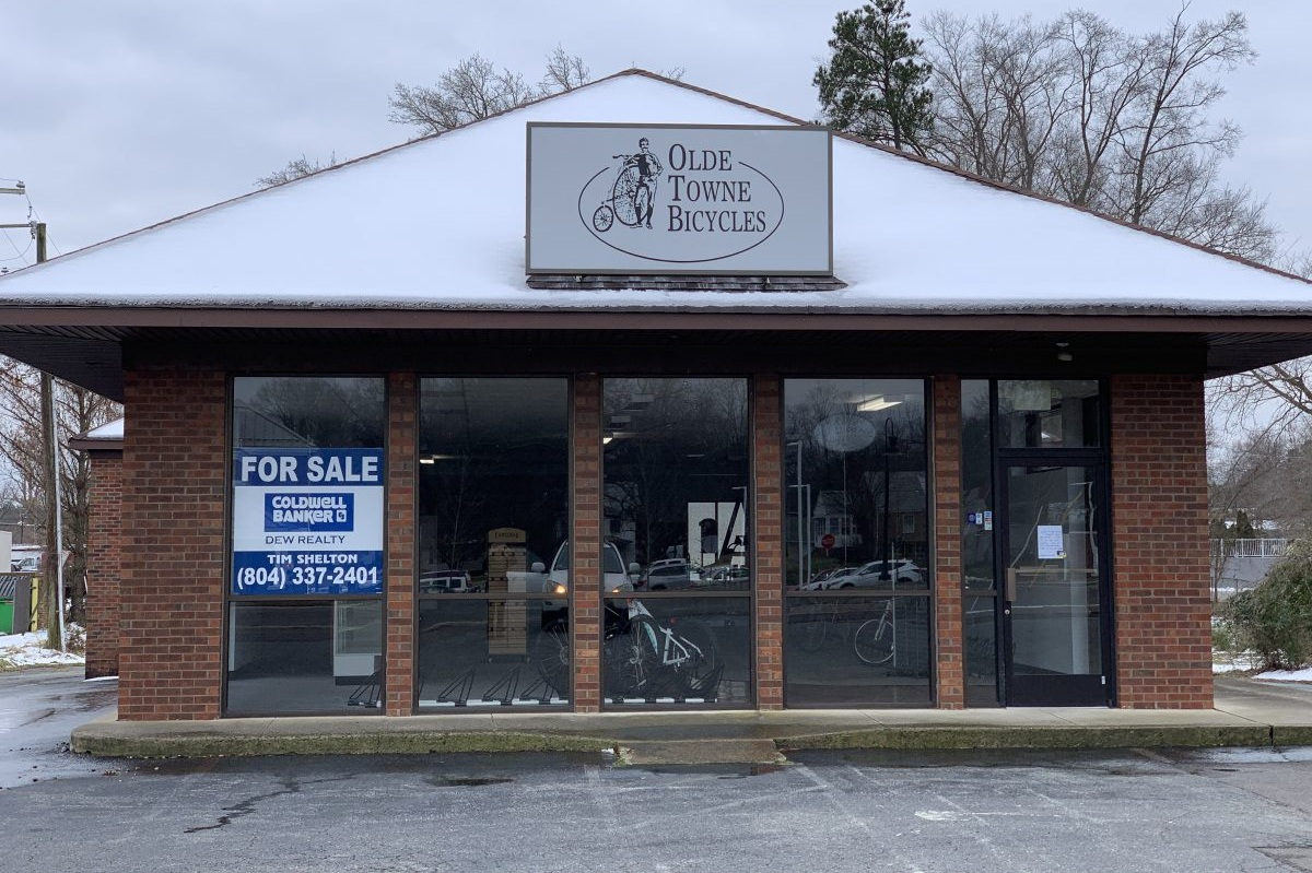 605 England Street - Sale$540,000Nice retail location across from the new WAWA. Former Bike Shop. Large lot.MLS Listing:Contact: Tim Shelton(804) 337-2401