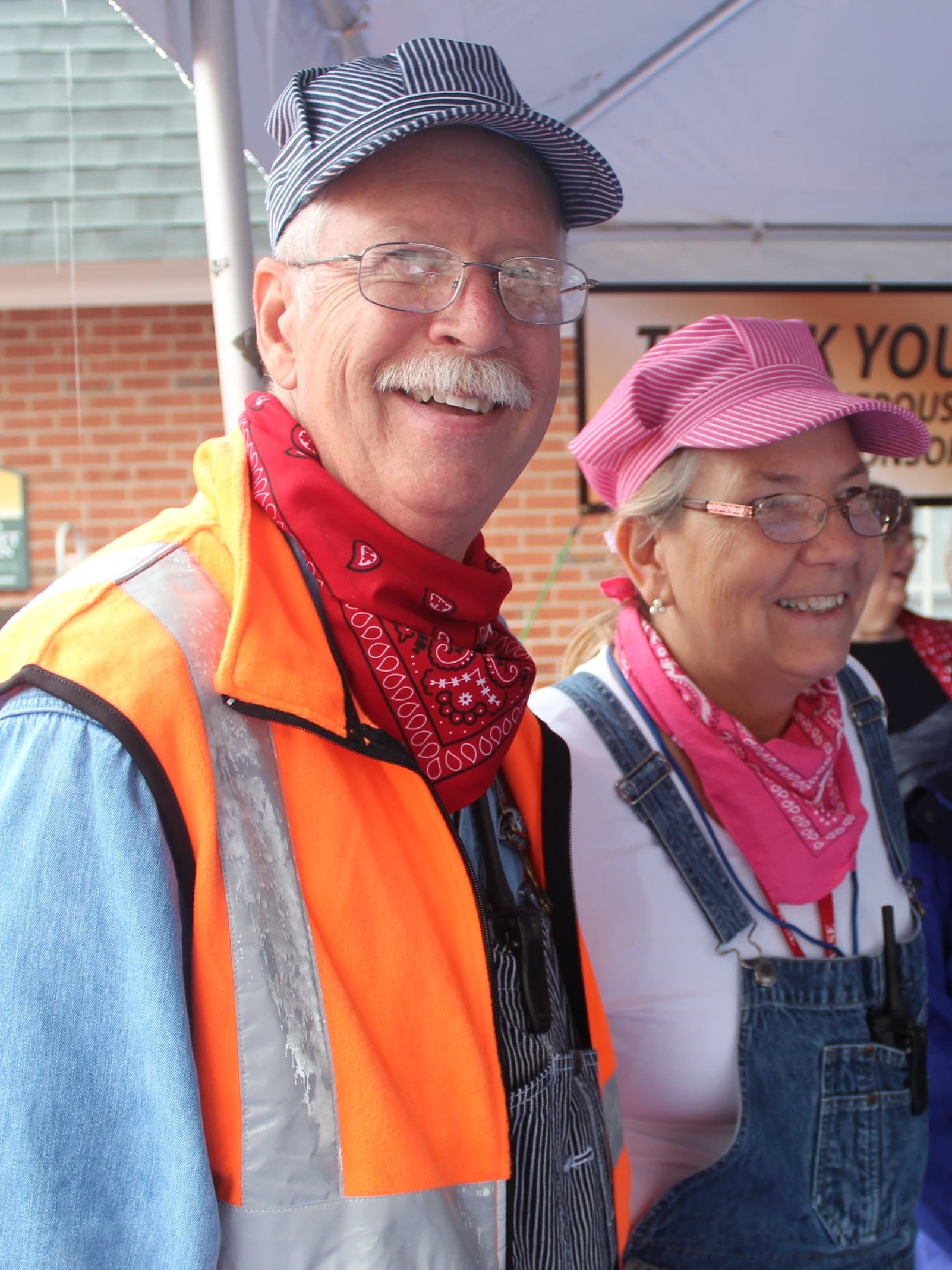 Bill and Cindy Gatewood volunteering at Ashland Train Day