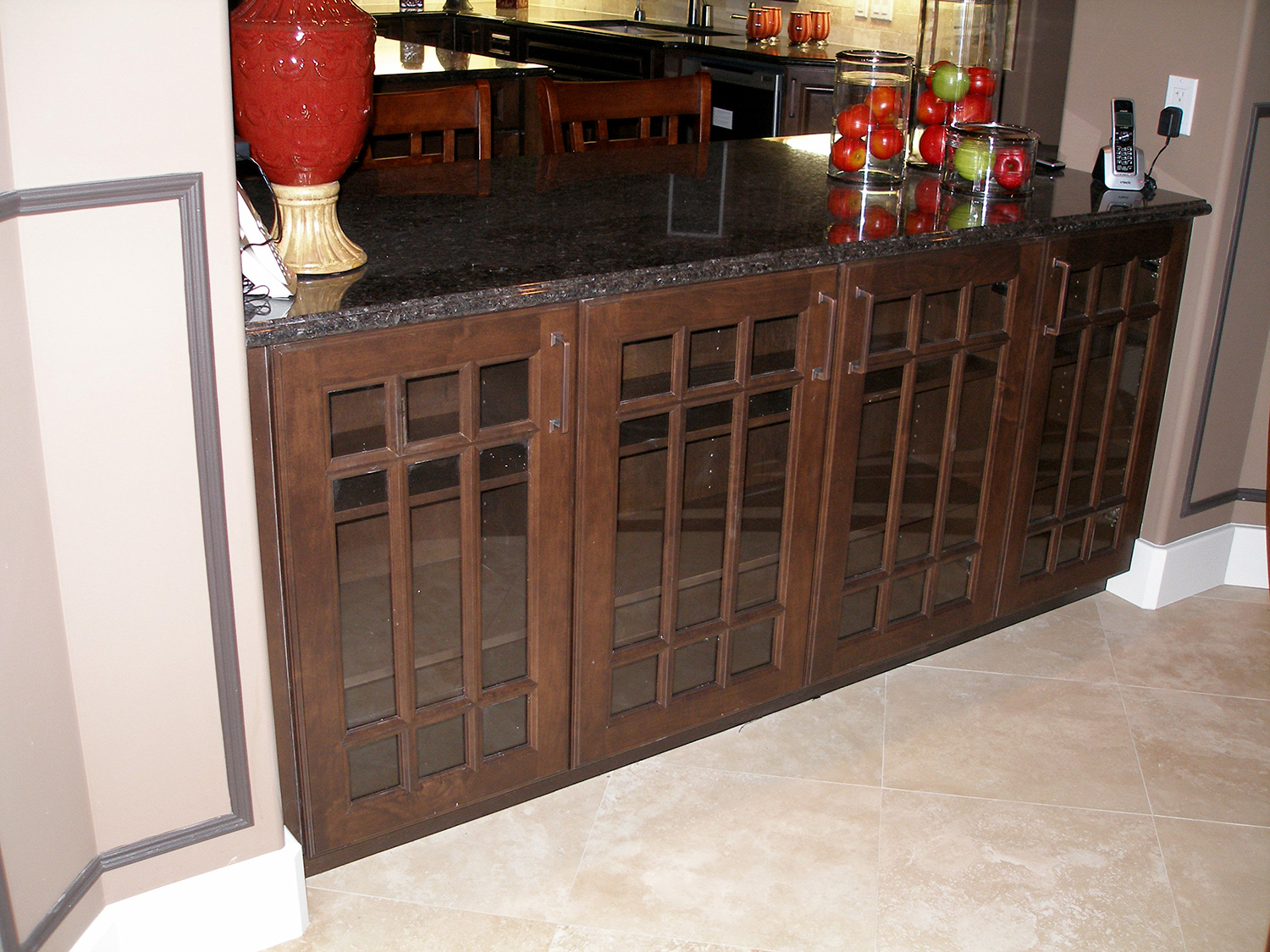 kitchen/dining room cabinetry