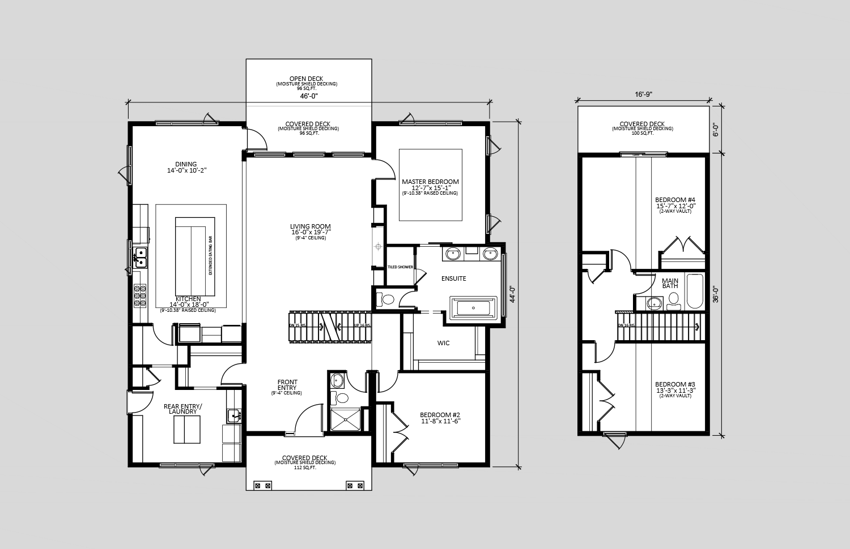 The Sutton  2,520 sq ft  Showhome Floorplan