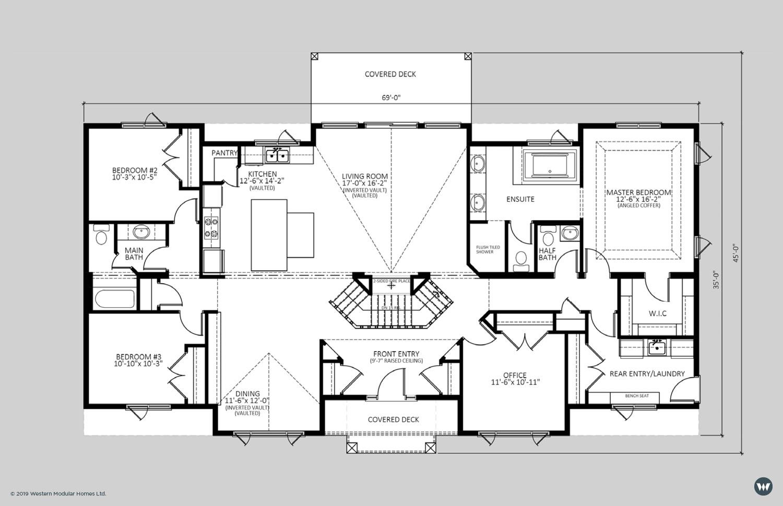 The Stoneshire II  2,220 sq ft  Standard Floorplan