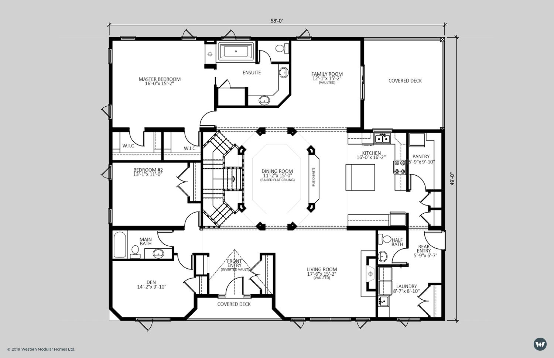 The Stratford II  2,560 sq ft  Standard Floorplan