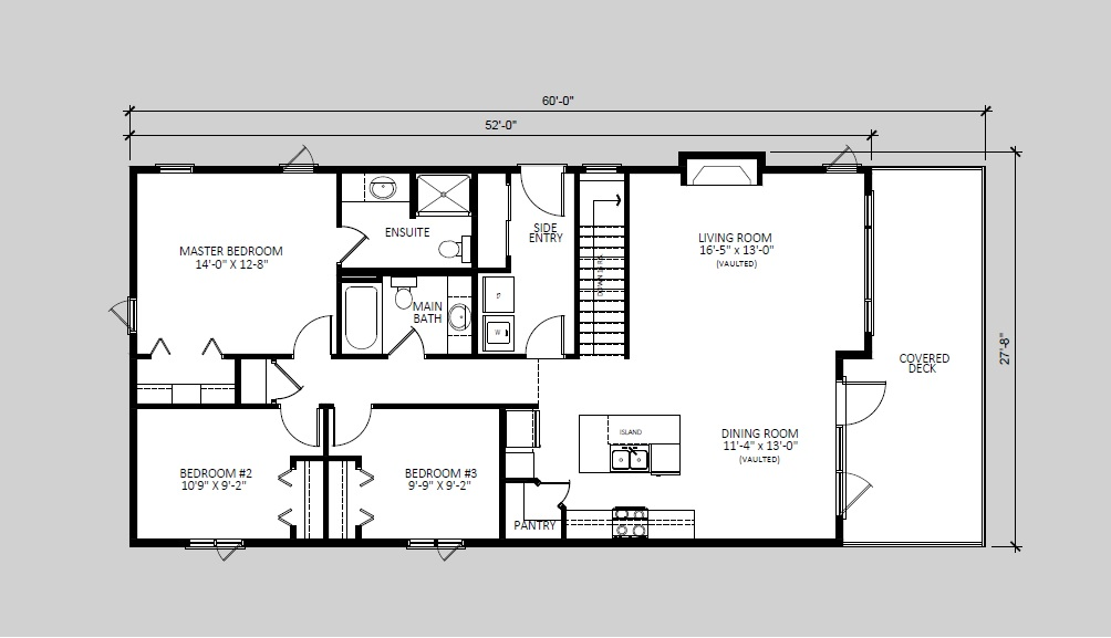 The Acadia  1,360 sq ft  Standard floorplan