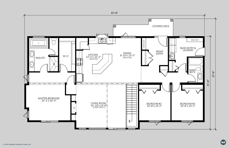 The Kingsford II  1,804 sq ft  Standard Floorplan