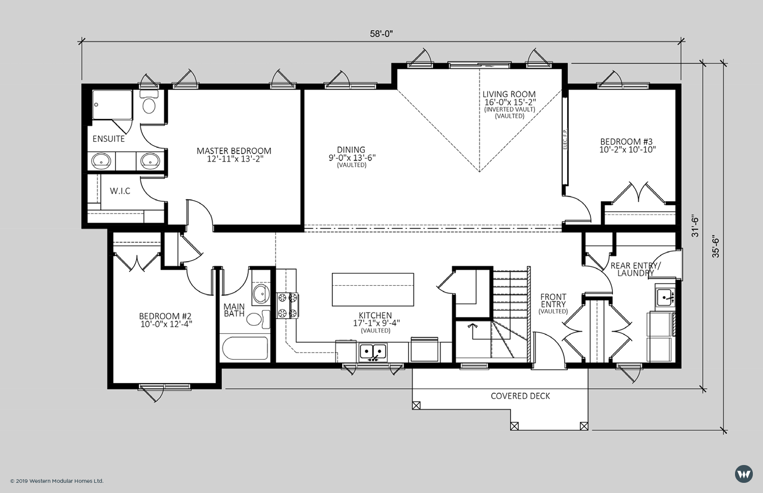 The Harlow  1,617 sq ft  Showhome Floorplan