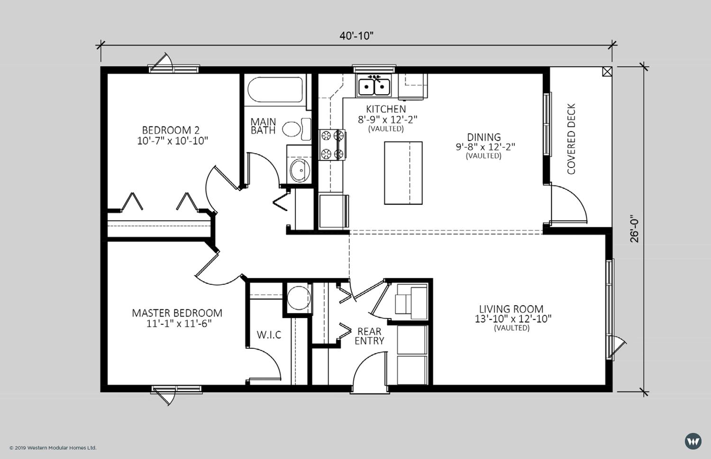The Ember  997 sq ft  Standard Floorplan