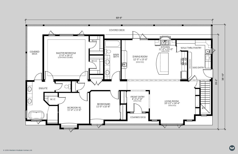 The Hampton  2,089 sq ft  Showhome Floorplan