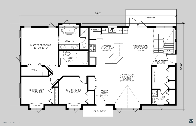The Wellington II  1,622 sq ft  Standard Floorplan