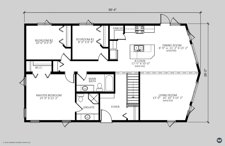 The Cliffside  1,353 sq ft  Brochure Floorplan