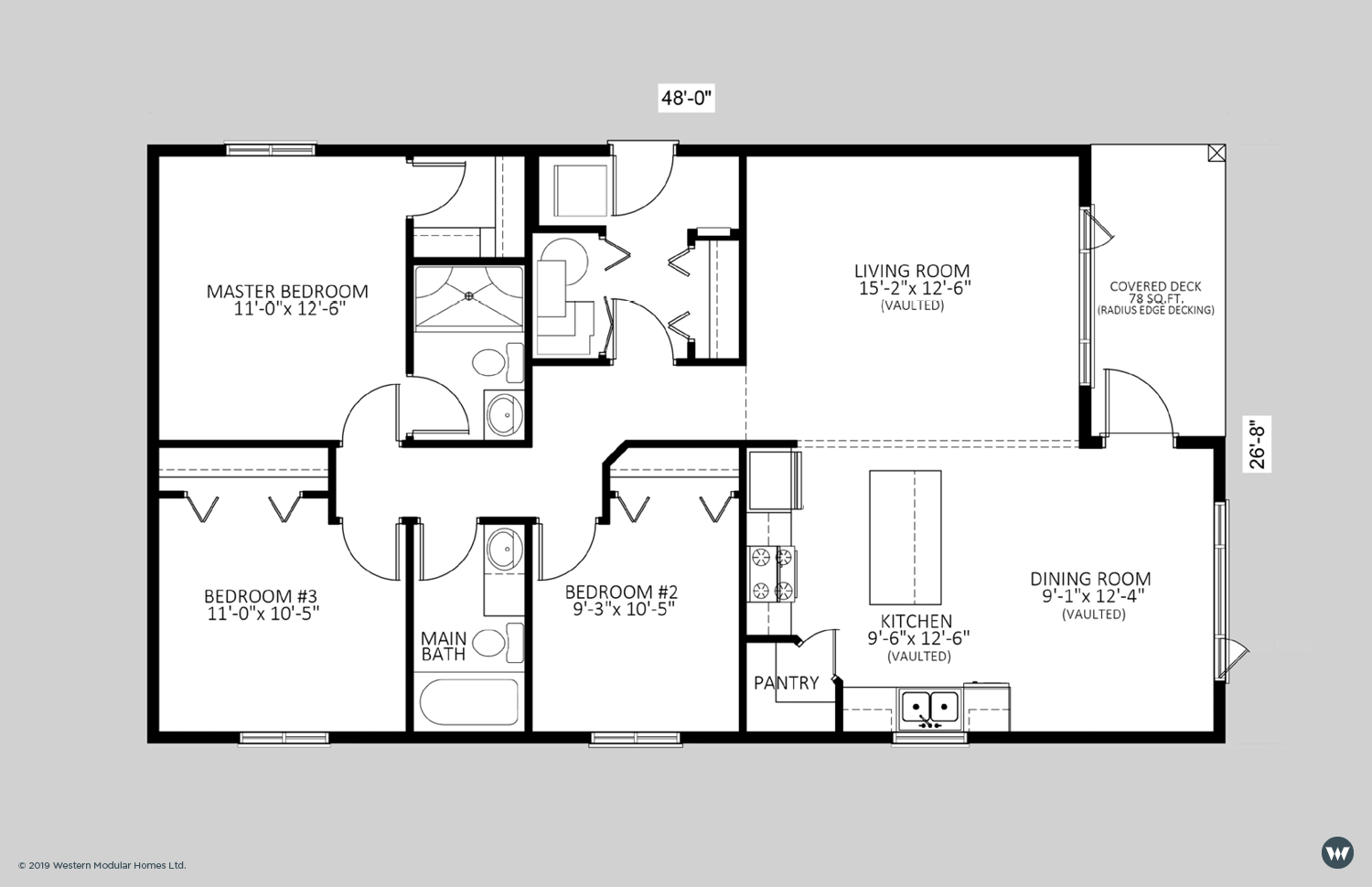 The Shelby  1,200 sq ft  Showhome Floorplan