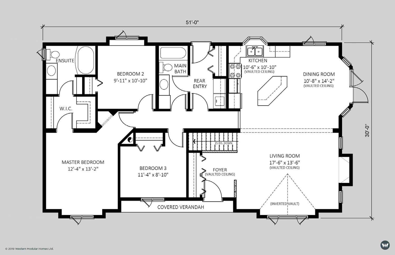 The Ashcroft  1,482 sq ft  Standard Floorplan