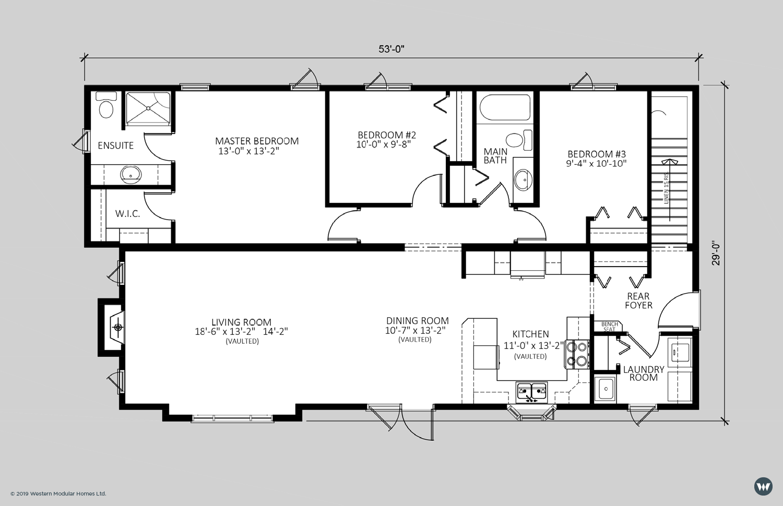 The Lexington  1,454 sq ft  Standard Floorplan