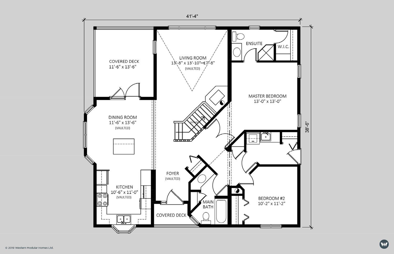 The Steward  1.531 sq ft  Standard Floorplan