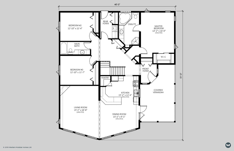 The Waterford  1,906 sq ft  Standard Floorplan