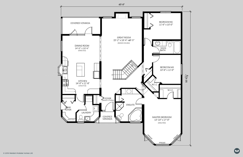 The Wedgewood  1,836 sq ft  Standard Floorplan