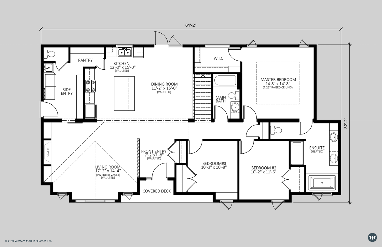 The Hampton III  1,813 sq ft  Showhome Floorplan