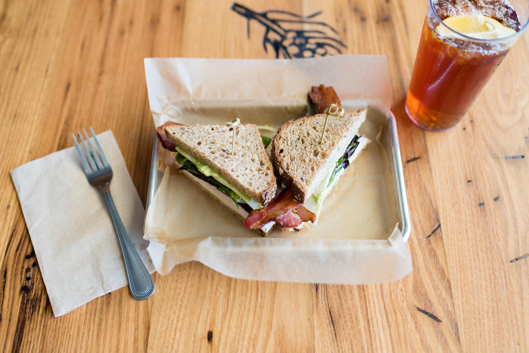 Turkey Avocado and Bacon Sandwich