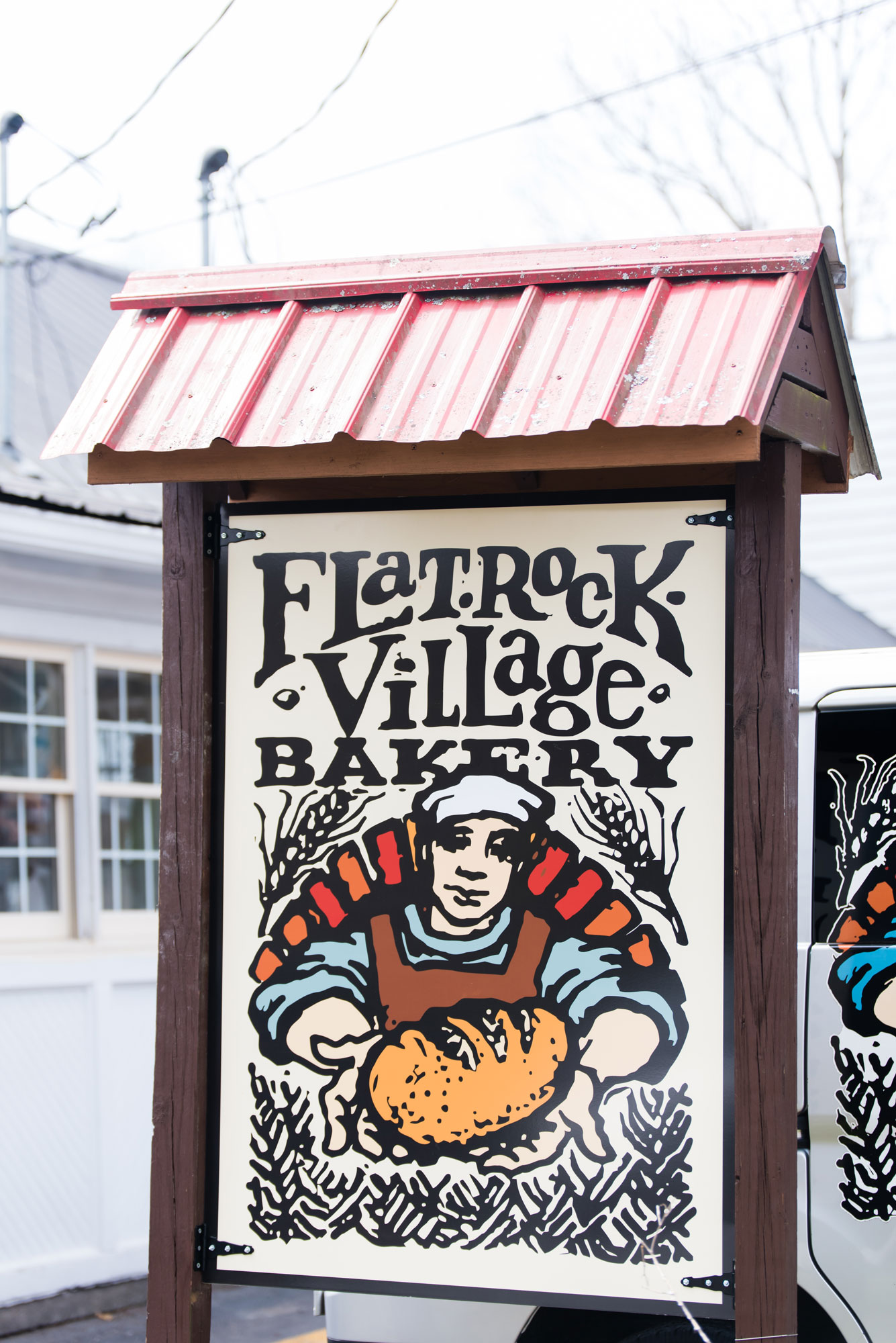 Flat Rock Village Bakery Sign