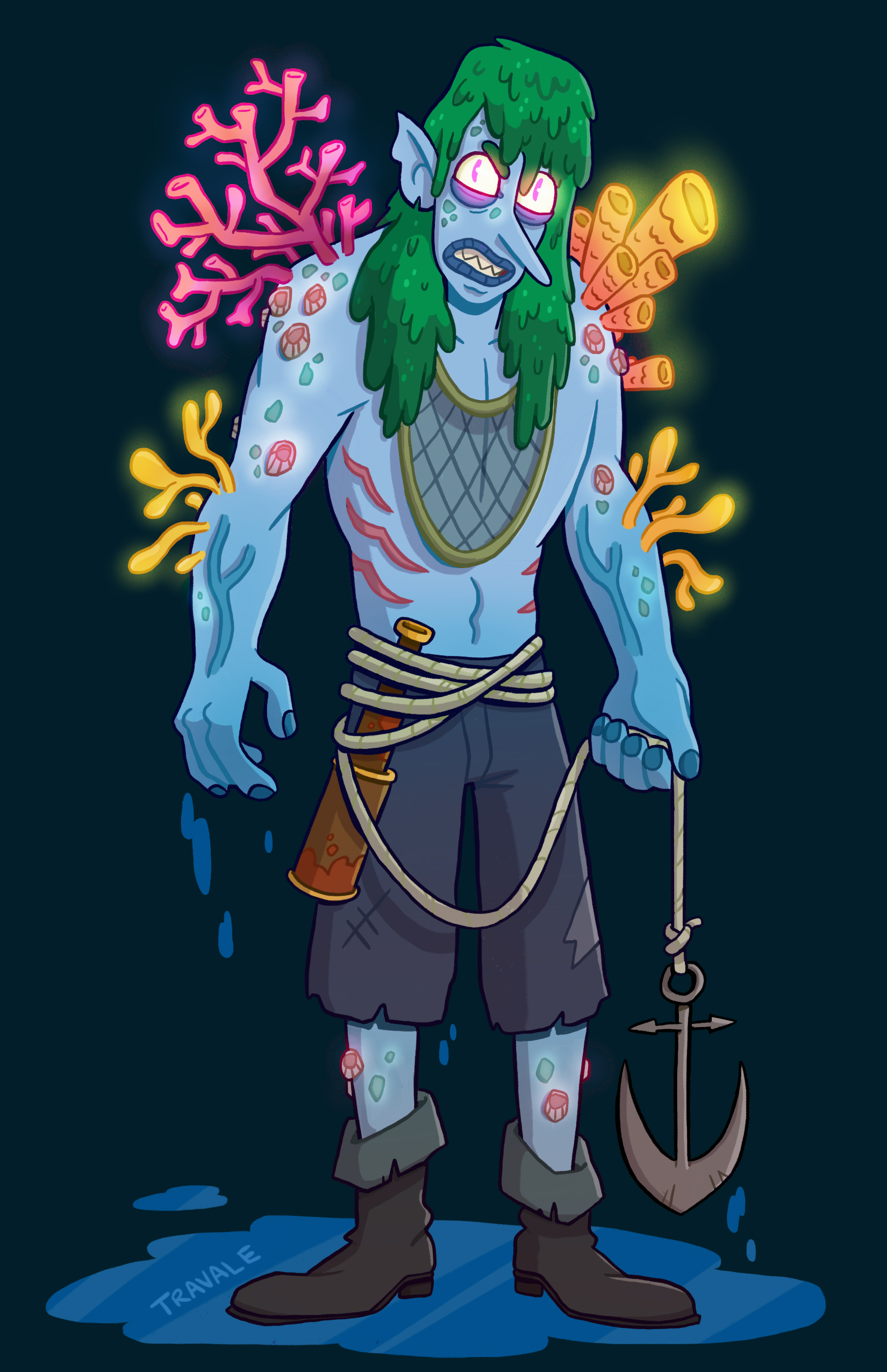 Cursed Coral Fishman