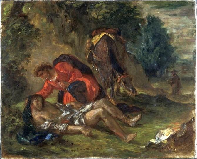 The Good Samaritan (1852)   , Delacroix,  oil on canvas