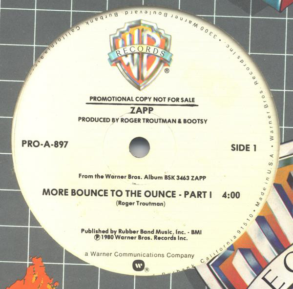 Zapp ‎– More Bounce To The Ounce   Genre: Funk / Soul  Style: Funk  Year: 1980