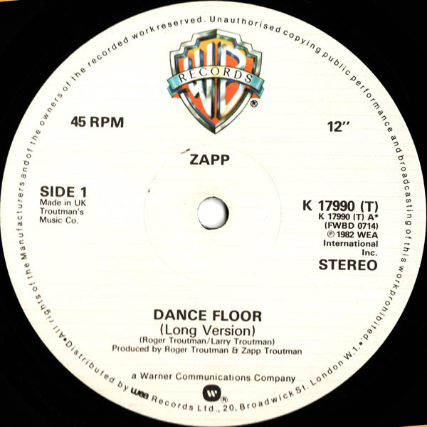 Zapp ‎– Dance Floor / More Bounce To The Ounce   Genre: Funk / Soul  Style: Funk  Year: 1982