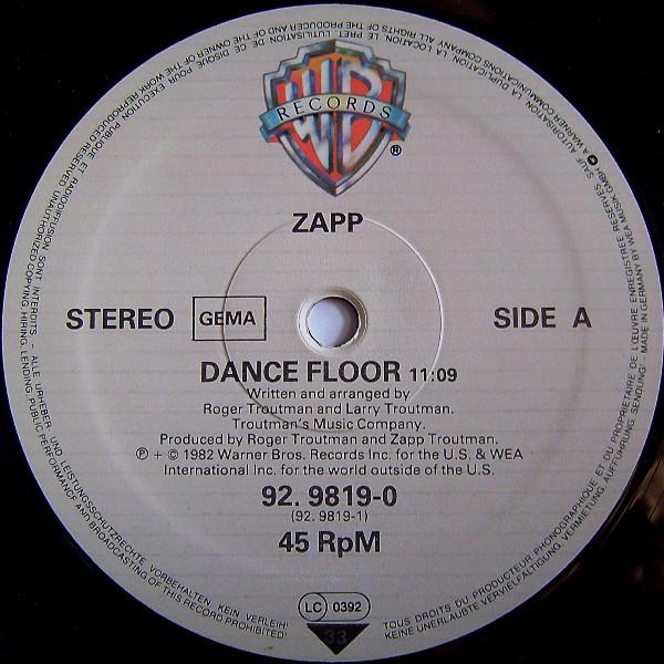 Zapp – Dance Floor / Doo Wah Ditty   Genre: Funk / Soul  Style: P.Funk, Funk  Year: 1982