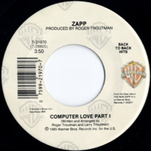 Zapp ‎– More Bounce To The Ounce / Computer Love   Genre: Electronic, Funk / Soul  Style: Electro, Soul, Funk  Year: 1989