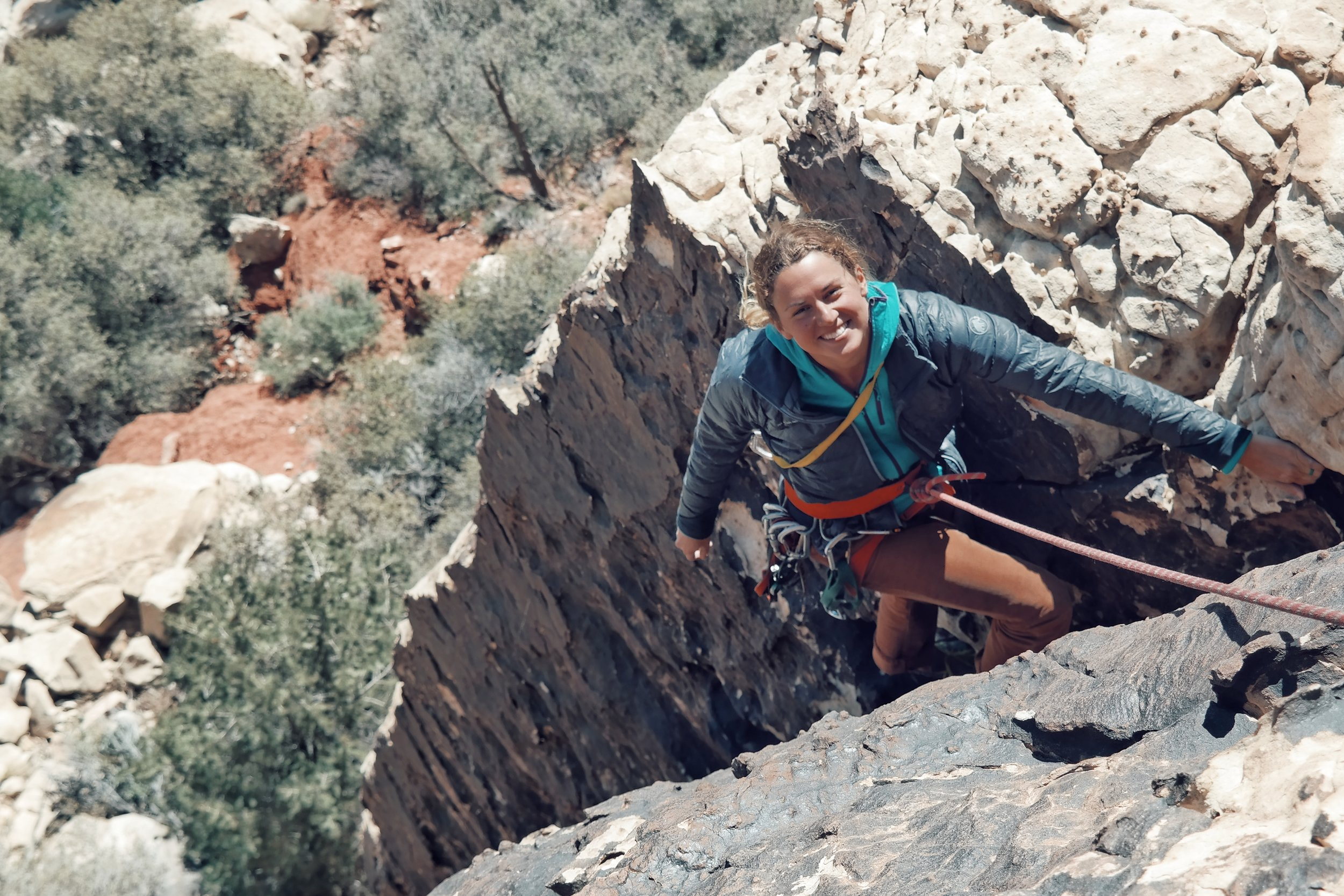 Rock climbing in southern Utah — photo by Keith Madia