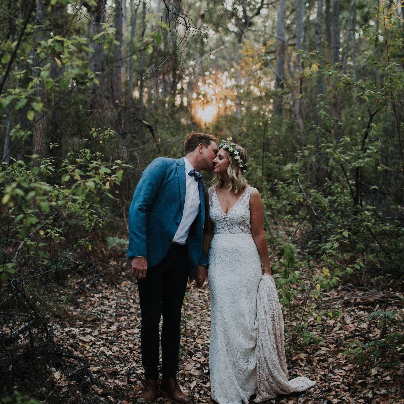 Lauren and Trent on their wedding day — photo by Rae Marie Photography