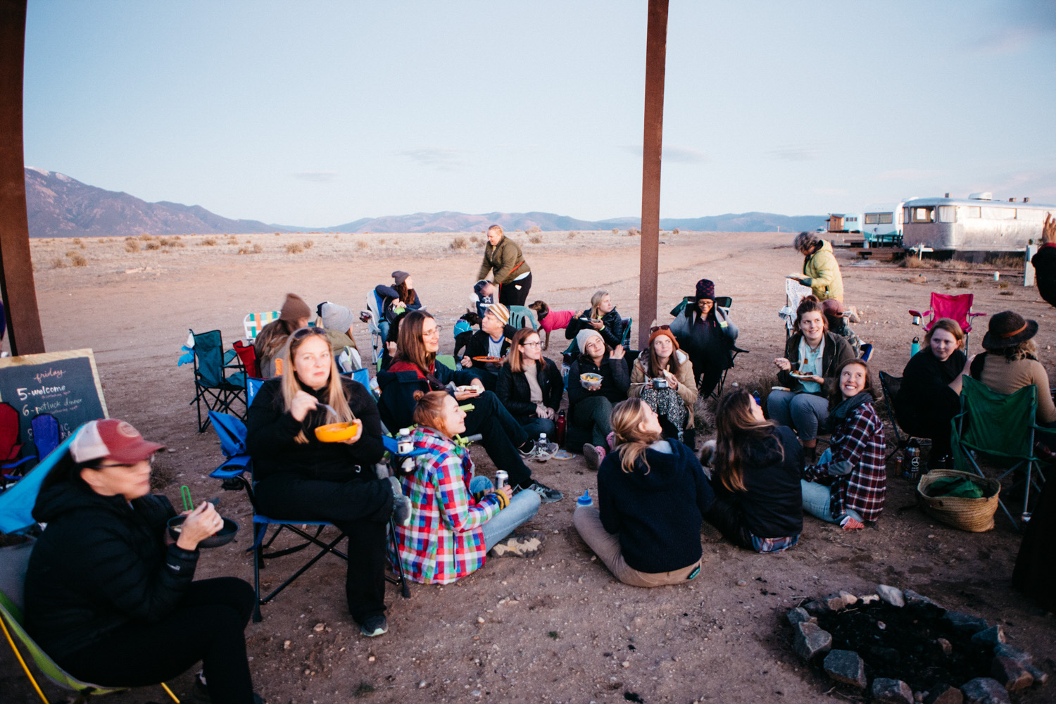 Friday night at the gathering consisted of a potluck dinner before live music by Ira Wolf — photo by Gale Straub
