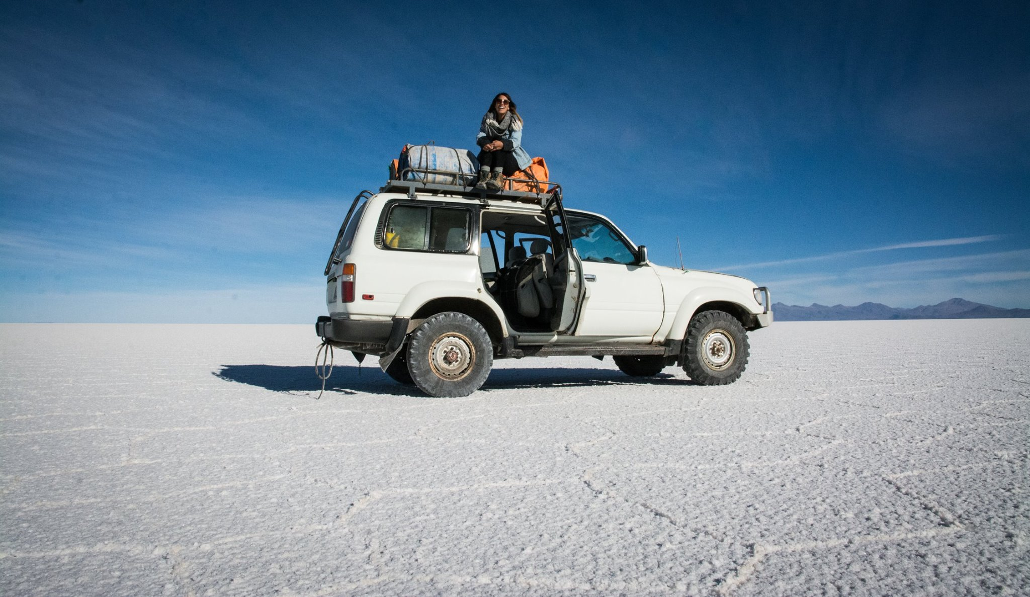 Alana Nason on a long road expedition in South America