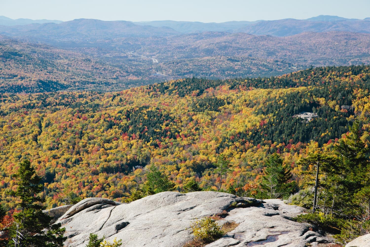 Fall colors in the White Mountains of New Hampshire — photo by Gale Straub