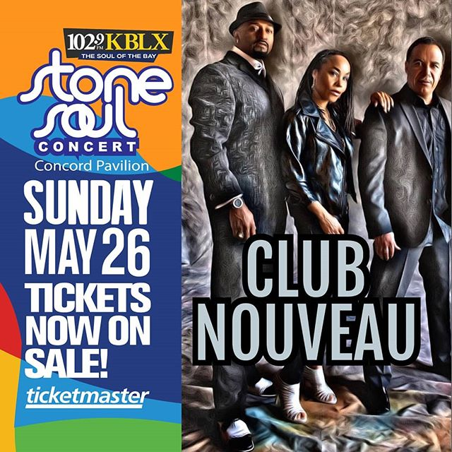 Check us out (Club Nouveau) at The Stone Soul Concert May 26th, 2019..... Hope To See U There!!!